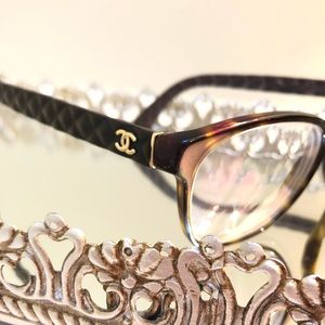 Chanel Black Glasses with Quilted Frames